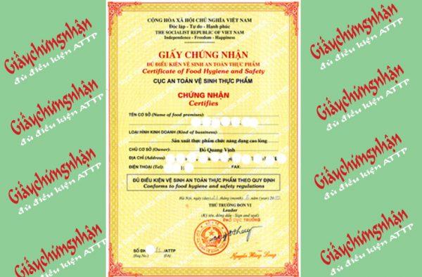 Dịch vụ giấy chứng nhận AN TOÀN THỰC PHẨM